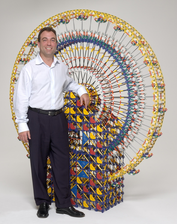 Michael Araten with K'NEX Ferris Wheel