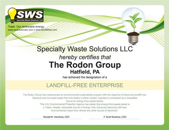 landfill free certification