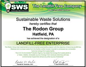 Rodon Group Landfil free certificate